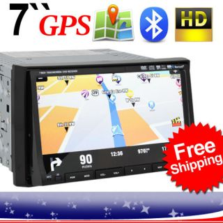 MR3 7 Double DIN in Dash Car DVD Player GPS Navigation