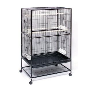 Pet Products Wrought Iron Flight Cage with Stand F040 Black Bird Cage