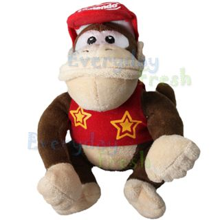 New Nintendo Super Mario Bros 12 Diddy Kong Plush Figure Doll Toy