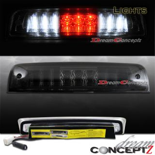 2009 2012 Dodge RAM LED 3rd Tail Brake Light Cargo Light Smoke Lens L
