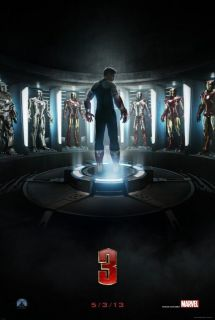 Iron Man 3 Advance 27x40 DS Poster Robert Downey Jr
