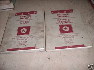 1986 Dodge RAM Van Wagon FWD Service Repair Shop Manual Set Factory