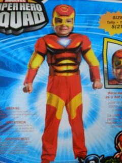 NEW BOYS TODDLER IRON MAN DRESS UP HALLOWEEN COSTUME SIZE 2T MARVEL