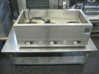 VERITY CV3WHS   3 Bay Well Electric 240V Steam Warming Table HOT DOG