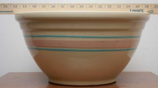 Huge Vintage x Large Pink Blue Mixing Bowl 14 McCoy American Pottery