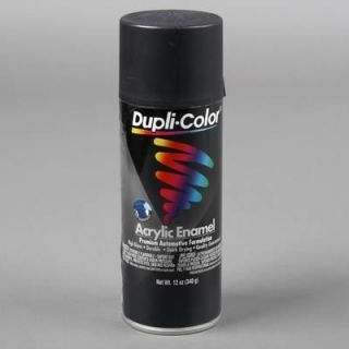 Dupli Color Paint General Purpose Enamel Flat Black 12 oz. Aerosol Ea