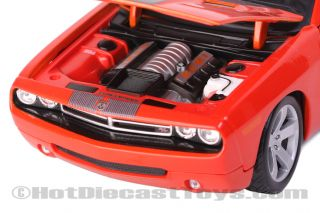 Maisto 2006 Dodge Challenger Concept Orange 1 18 Diecast