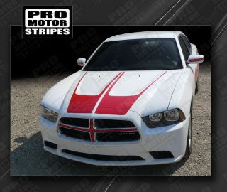 Dodge Charger Hood Accent Crown Stripes 2011 2012 2013