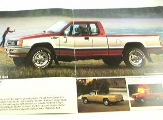 1988 88 Dodge RAM 50 Pickup Truck Brochure Sport Power