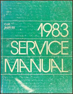 1983 Dodge RAM 50 Pickup Truck Repair Shop Manual Gas Diesel Original
