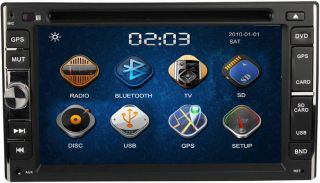 Car CD DVD Player 6 2Touch Screen Double 2 DIN in Dash Radio  BT