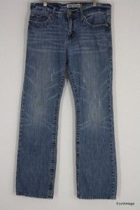 Mens Aeropostale Driggs Low Rise Slimm Boot Cut Jeans Distressed 31 x
