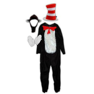 Dr Seuss Deluxe Cat In The Hat Halloween Costume Adult Size L X L 12