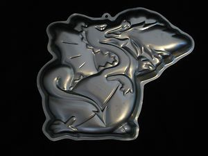 Fire Breathing Dragon 1984 2105 1750 Cake Pan Mold Instruction