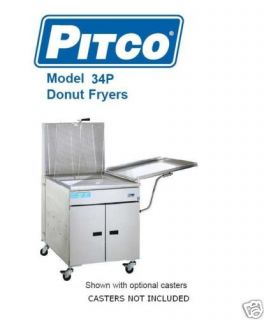 Pitco Gas Donut Fryer 34PM 100 Dozen Hour