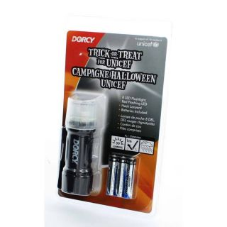Dorcy 30 Lumen LED Flashlight Red Flashing with Lanyard