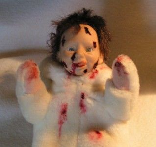Hungry Little Zombie Baby Bunny Child OOAK Reborn Art Lestat 55 Adsg