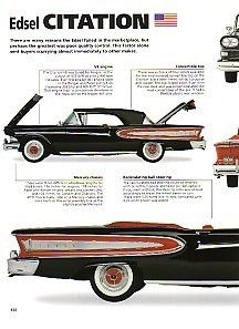 1958 Ford Edsel Citation Convertible Article Must See