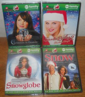 Christmas ABC FAMILY DVD Lot Christmas in Boston Snow Snowglobe more