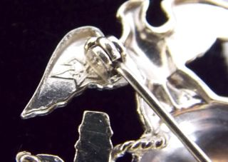 Sterling Silver WWII Marine Corps Collar Insignia Pin