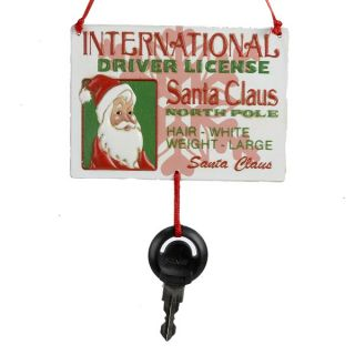 Kurt Adler Santa International Driver License Card Key