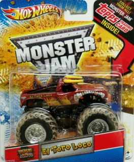 El Toro Loco Hot Wheels Monster Jam 2012 Topps Trading Card Mud Trucks