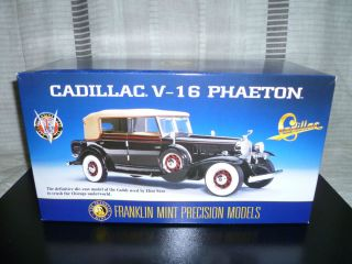 Eliot Ness 1932 Cadillac V 16 Phaeton Franklin Mint Black Diecast Car