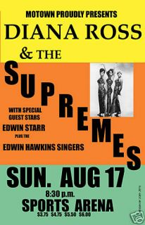 MOTOWN Diana Ross Supremes w Edwin Starr at Sports Arena Concert