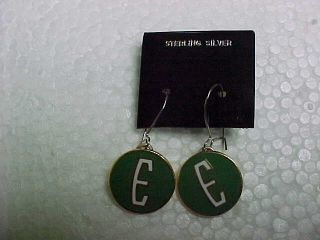 Ford Edsel E Logo Sterling Silver Earrings Mint Hand Crafted in The