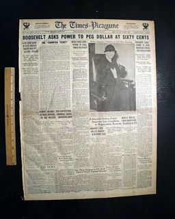 JOHN DILLINGER East Chicago Bank Robbery SHOOTOUT & Babe Ruth 1934 Old