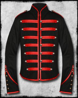 emo red military parade my chemical romance jacket fully lined unisex