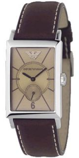 Emporio Armani Mens AR0127 Tan Leather Classic Designer Watch