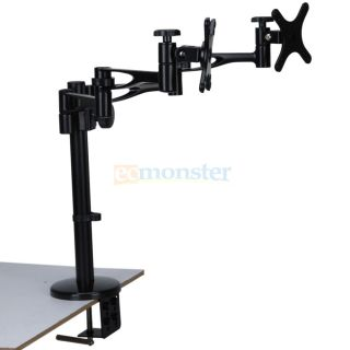 Cantilever Tilt Swivel LCD LED Monitor TV Mount for HP 14 15 19 22
