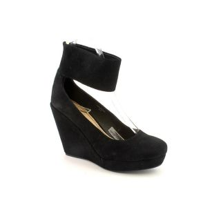 Envy Holster Womens Size 8 Black Suede Wedges Shoes