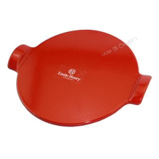 New Emile Henry 12 Red Pizza Stone for Oven BBQ Grill France