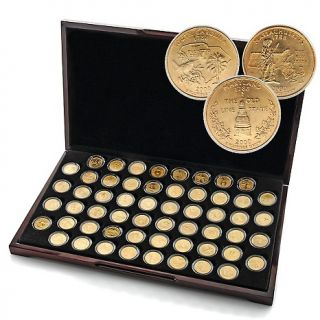 State Quarters 1999 2009 Complete Set of 24K Gold Plated State Qtrs