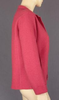 Eileen Fisher Petite Size PS Gorgeous Raspberry Red Jacket