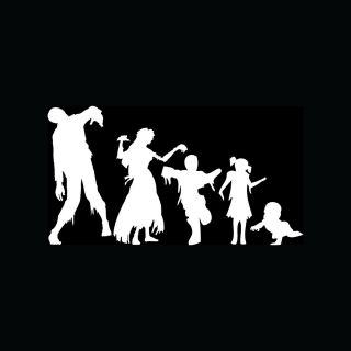 Zombie Family Stickers Car Truck Window Vinyl Decal Mom Dad Son