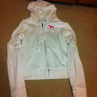 Victoria Secret Pink Zip Hoodie Size Medium