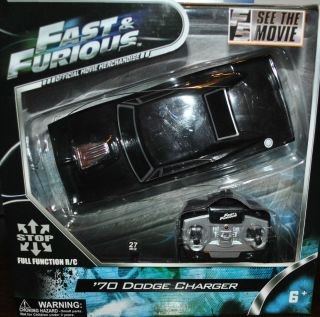 Very Cool RARE Fast Furious Remote Control Car 70 Dodge Charger Full