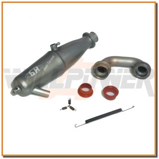 SH 1/8 In line Muffler Exhaust Pipe #SA211D (RC WillPower) Buggy LRP Z