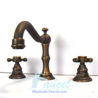 Classic Widespread Antique Brass Bathroom Faucets 6021F