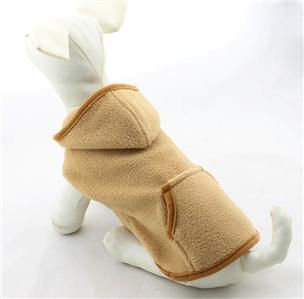 Pet Coats Dog Clothing Fleece Dog Hoodie Winter Coat 4 Colors