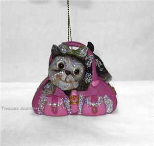 Fifi on Fifth Small Yorkie Terrier Pet Dog Pink Ornament Katherines
