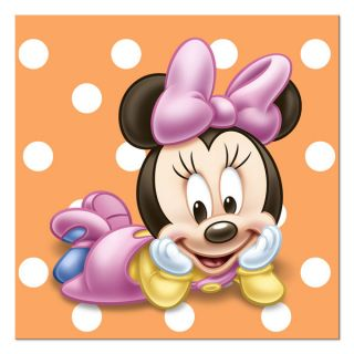Baby Minnie Mouse 1st First Birthday Party Cake Napkins