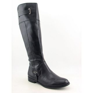 Etienne Aigner Gilbert Womens Size 10 Black Leather Fashion Knee High