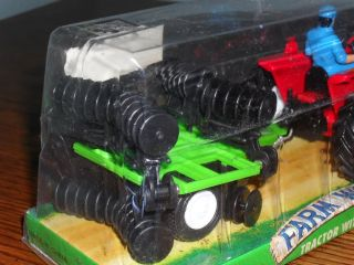 Die Cast Farm World Tractor with Trailer