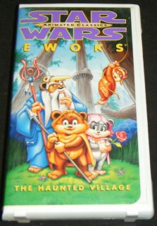 Star Wars Ewoks The Haunted Village Animated VHS