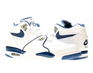 Nike Air Flight 89 White Dark Royal Mens Basketball Shoes 306252 100
