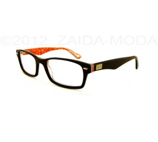 Ray Ban® RB 5206 Classic Eyeglass Frame Black Red Text